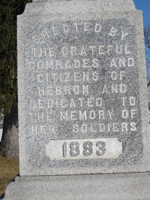 Dedication Marker at Linn-Hebron Cemetary